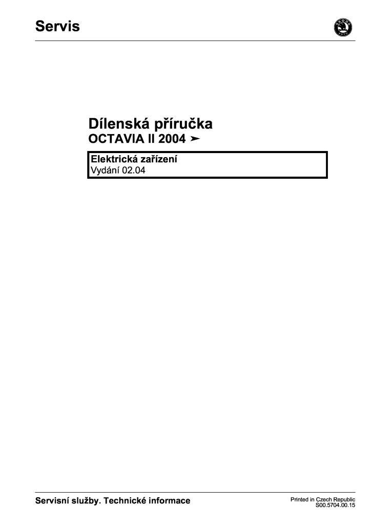 dílenská příručka škoda octavia ii